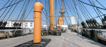 Deck of HMS Warrior - Portsmouth Stock Image