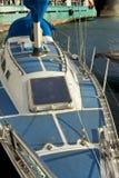Deck of large yacht Stock Photos