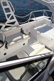 Deck of modern yacht boat Royalty Free Stock Photography