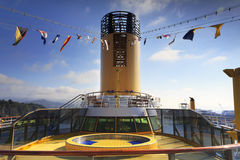Deck of multidecked ship Stock Photo