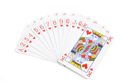 Deck Of Hearts Royalty Free Stock Photos