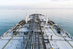 Deck of oil product tanker. Stock Photography