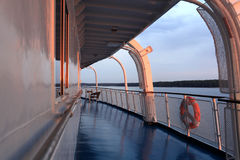 Deck passenger ship Stock Photography