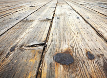 Deck of pier Stock Image