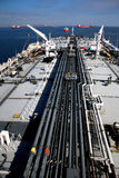 Deck and pipelines supertanker Royalty Free Stock Images