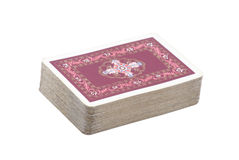 Deck of playing cards. With clippin path Royalty Free Stock Photography