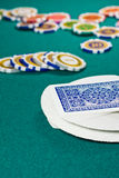 Deck of playing cards - bokhen Royalty Free Stock Image