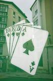 Deck of poker Royalty Free Stock Photos