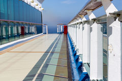 Deck and railing on cruise ship Royalty Free Stock Images