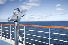 Deck's binoculars cruise Royalty Free Stock Photography