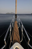 Deck of sailboat Royalty Free Stock Images