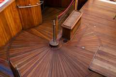 Deck of the sailboat Stock Photography