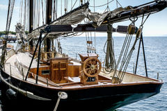 Deck of a sailing boat Stock Photos