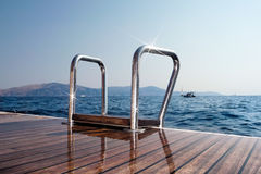 Deck and sea Stock Photography