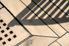 Deck shadows stock images