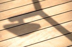 Deck shadows royalty free stock image