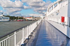 Deck of the ship. Deck of the passenger ship Stock Image
