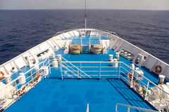 Deck of the ship. Royalty Free Stock Images