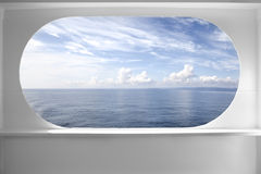 Deck ship window Royalty Free Stock Photos