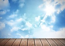 Deck and sky Royalty Free Stock Photography