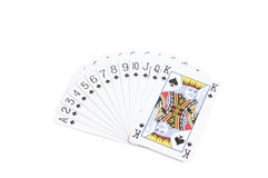 Deck of spades Stock Image