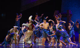 """Deck sports meeting-Dance drama """"The Dream of Maritime Silk Road"""". Dance drama """"The Dream of Maritime Silk Road"""" centers on the plot of two stock images"""