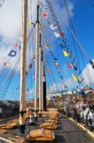 Deck of ss great britain. On the deck of the ss great britain in bristol Royalty Free Stock Photos
