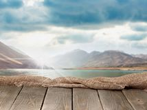 Deck surface background. Advertisement photomontage wallpaper page photo table Stock Image