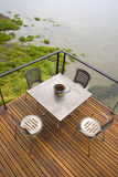Home Architecture Metal Deck Table Puget Sound Royalty Free Stock Photography