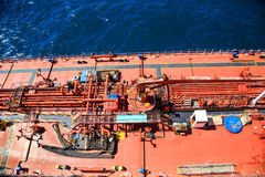 Deck of Tanker from Above Stock Images