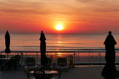 Sunrise Over the Ocean on Florida Beach royalty free stock image