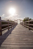Deck to the sea Royalty Free Stock Image