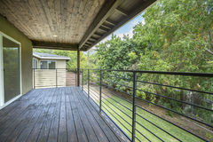 Deck with tones on second level. Outdoors in Southern California homes ready for real estate listings Stock Images