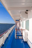 Deck of the tourist ship Royalty Free Stock Photography
