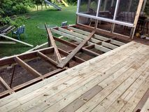 Deck under Construction Royalty Free Stock Images