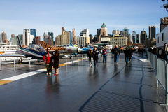The Deck of the USS Intrepid. Stock Images