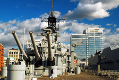 On the Deck of the USS Wisconsin, Royalty Free Stock Images