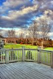 Deck view. A beautiful view from the deck during a stormy day Royalty Free Stock Photography