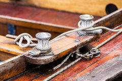 Deck of wooden ship Stock Image