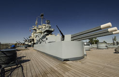 Deck of World War II 2 Battleship Royalty Free Stock Photo