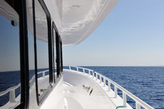The deck. Yacht elements. The yacht deck Royalty Free Stock Photo