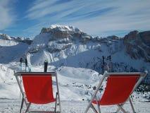 Deckcairs in de sneeuw Royalty-vrije Stock Fotografie