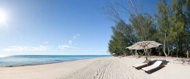 deckchair пляжа Стоковое Изображение