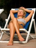 Deckchair Royalty Free Stock Image