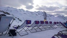 滑雪deckchair 库存照片