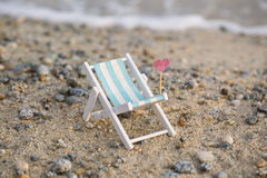 Deckchair on the beach, relax Stock Image