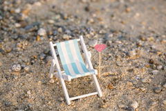Deckchair on the beach, relax Royalty Free Stock Images