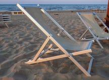 Deckchair on the beach Royalty Free Stock Photography