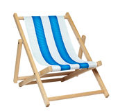 Deckchair (with clipping path) Royalty Free Stock Photo