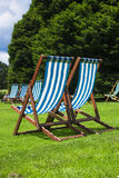 Deckchair. S in Hyde Park London Royalty Free Stock Photos